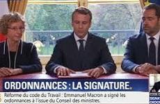 Macron signe les ordonnances